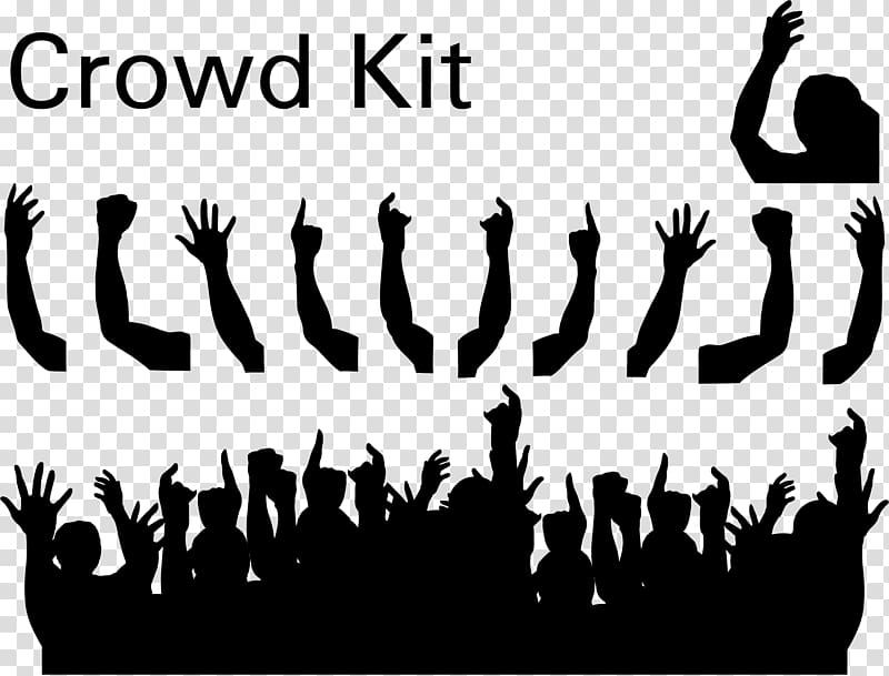 Crowd clipart students. Silhouette transparent background png