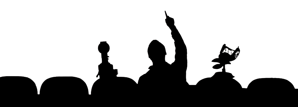 Movie theater silhouette at. Crowd clipart theatre audience