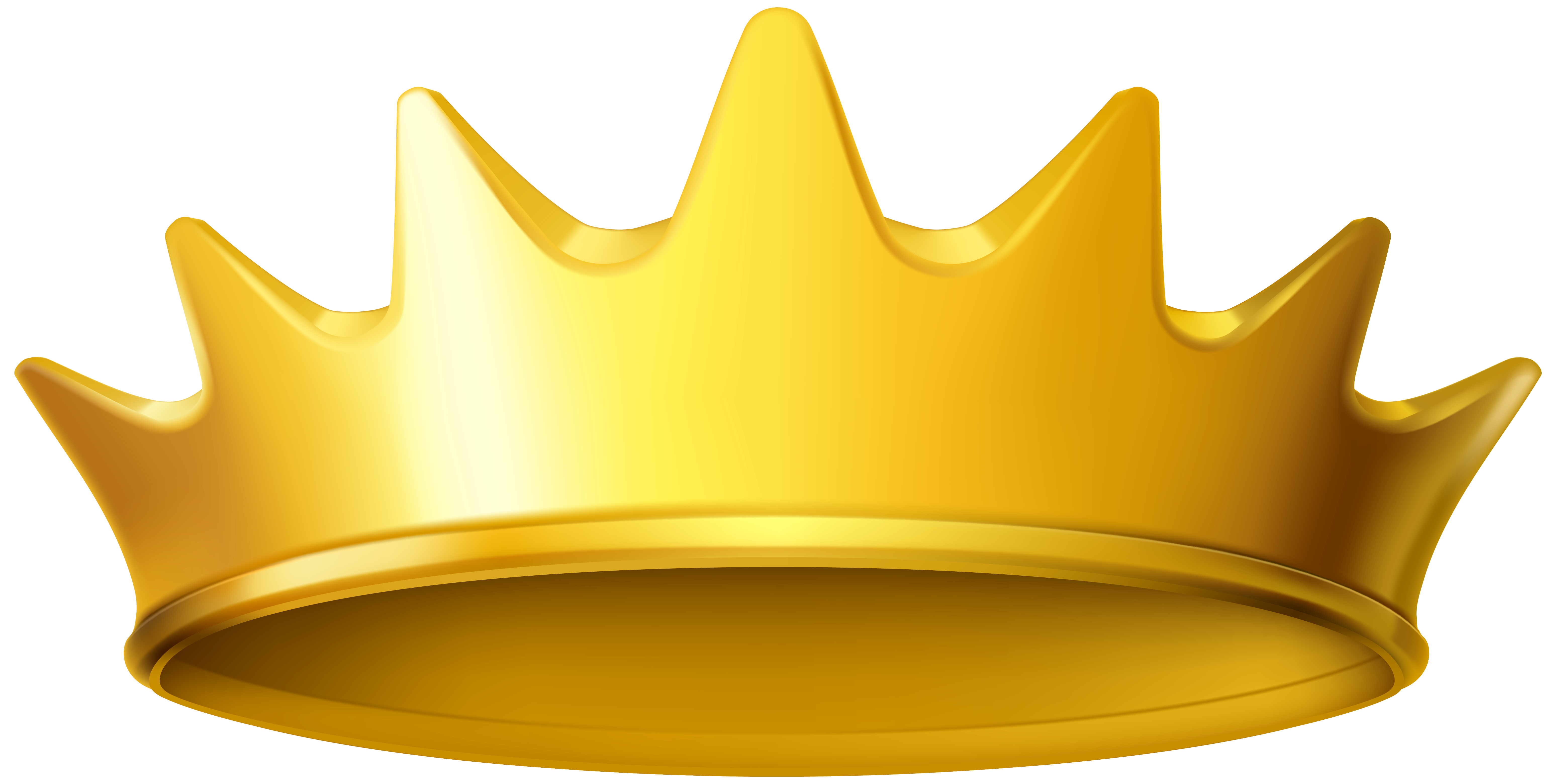 Golden png image gallery. Crown clipart