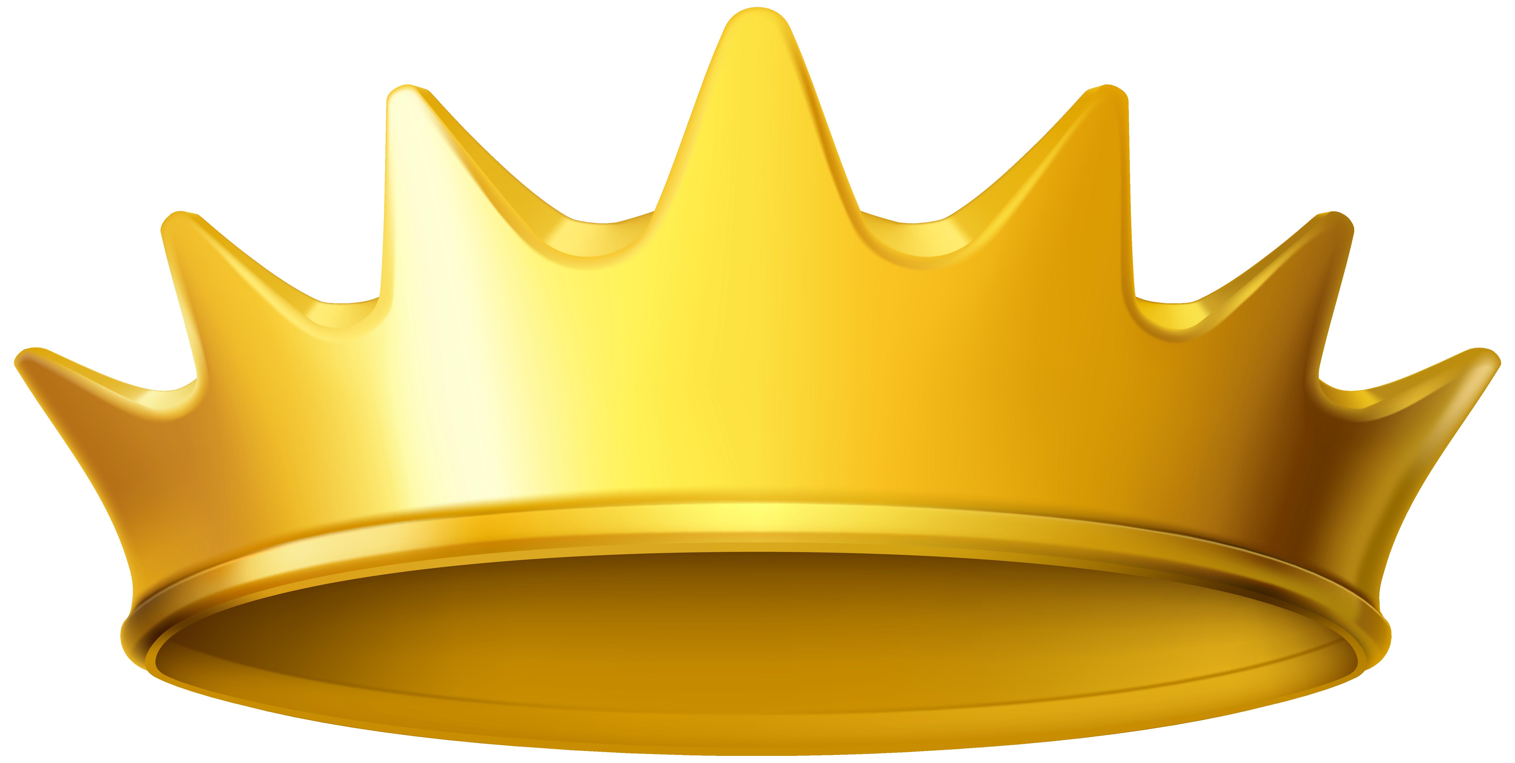 Crown clip art. Golden clipart png image