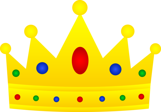 Crown clip art. Royal golden with jewels