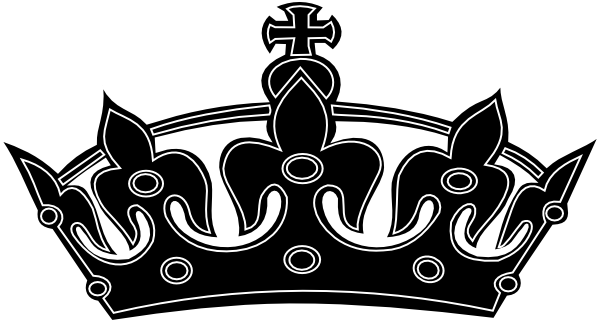 Crown clip art beauty queen crown. Clipart black and white