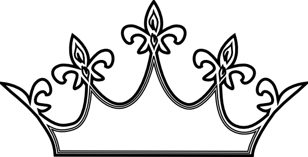 Outline ideal vistalist co. Crown clip art black and white
