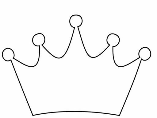Crown black and white. Crowns clipart plain
