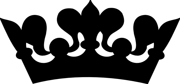 Crown clip art black and white. Princess clipart panda free