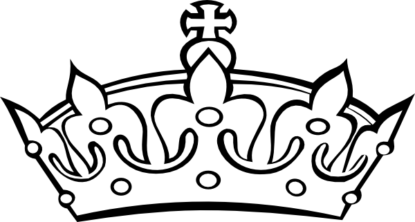 Crown clip art black and white. Princess clipart images crowns