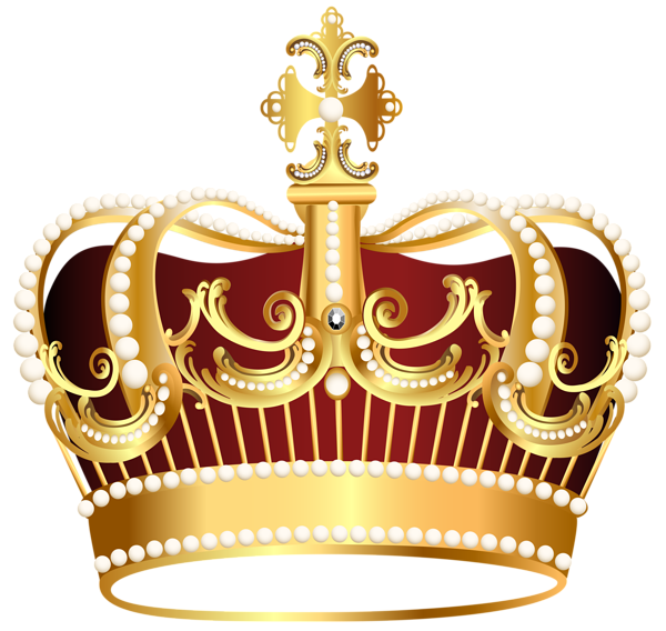 Golden transparent png image. Crown clip art clear background