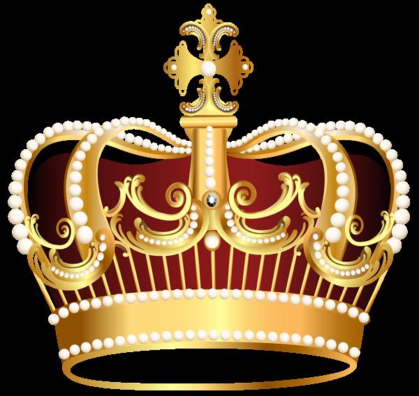 Golden transparent png image. Crown clip art clear background