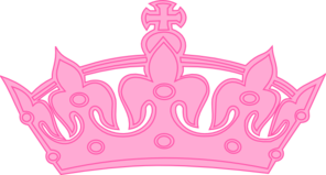 Crown clip art girly. Pink at clker com