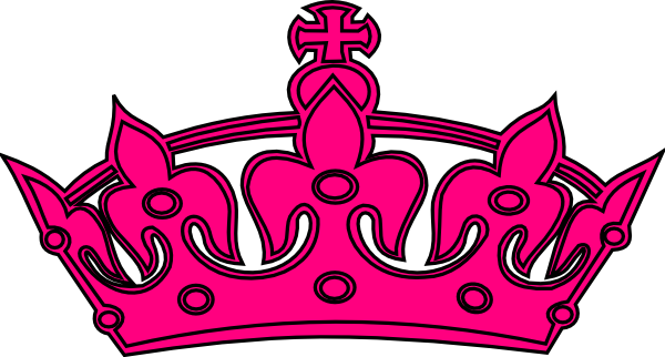 Hot pink and black. Crown clip art girly