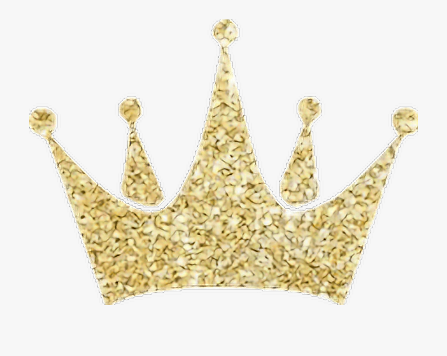 Crowns clipart glitter. Gold crown freetoedit png