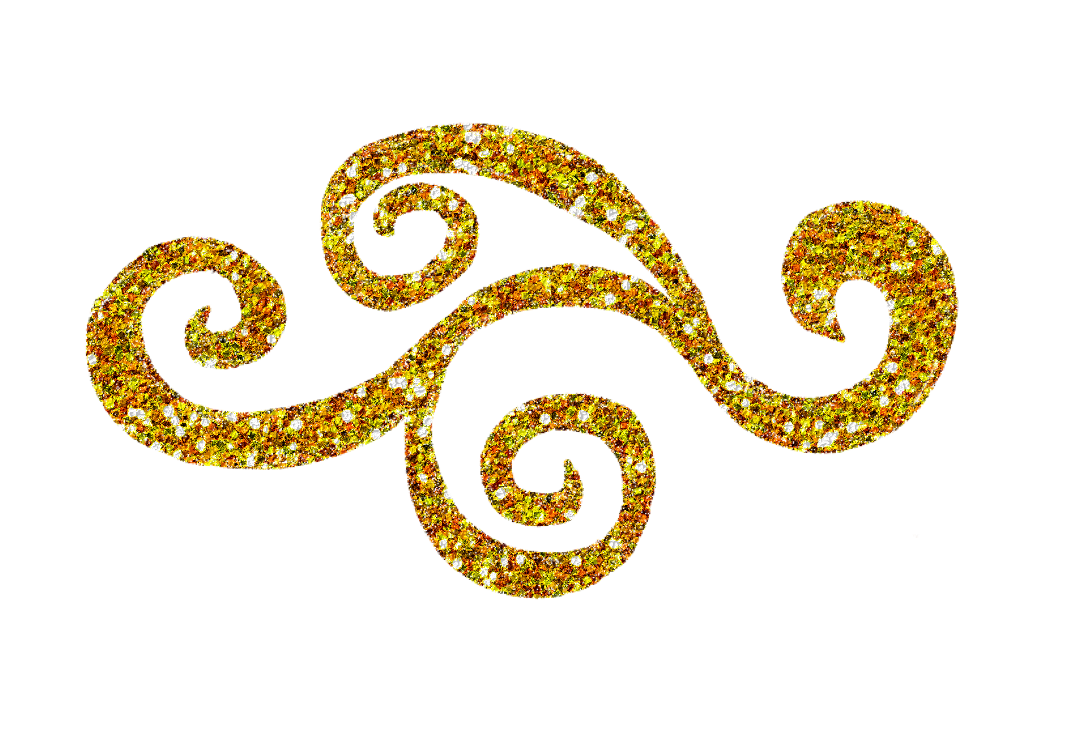 Swirl clipart . Crown clip art gold glitter