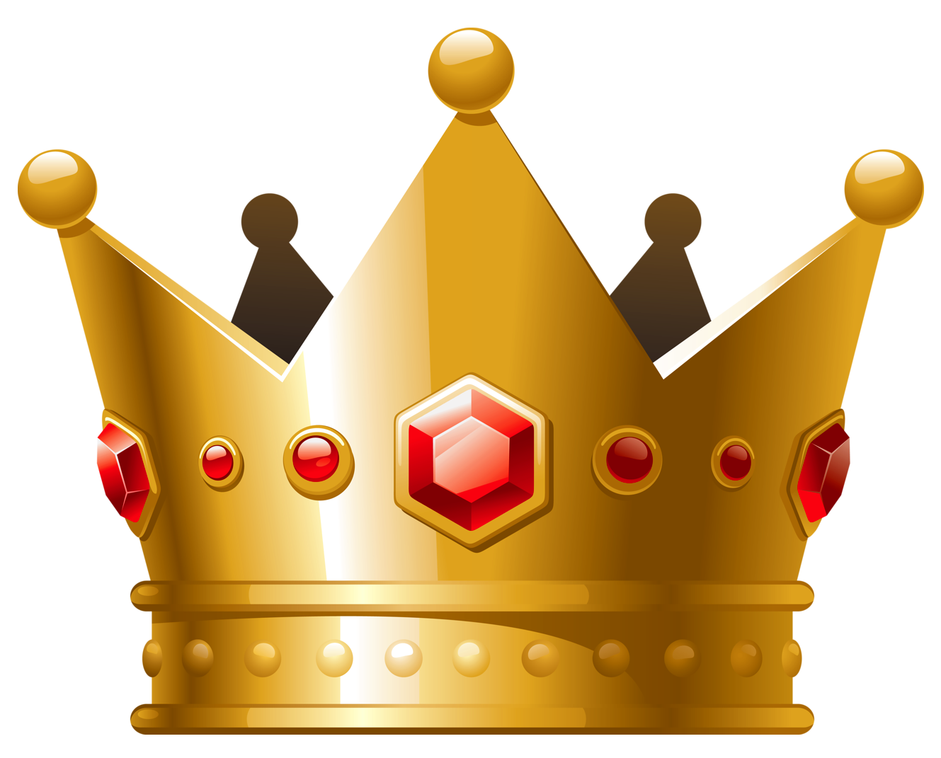Gold with red diamonds. Crown clip art high resolution