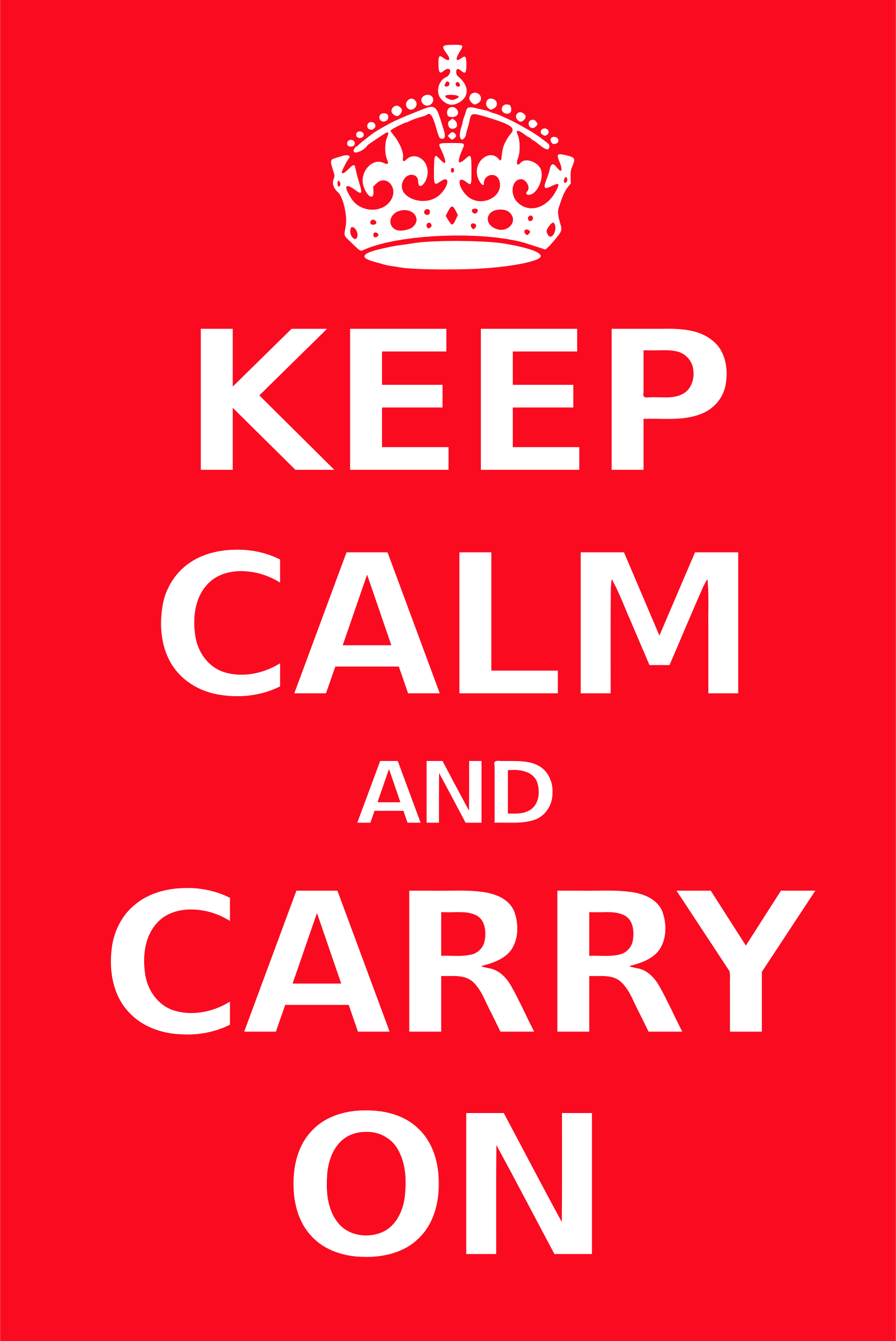 Poster big image png. Calm clipart keep calm