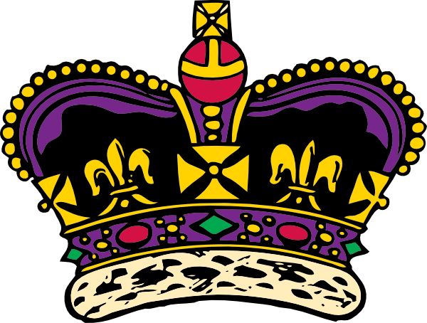 Crown clip art king. Clothing at clker com