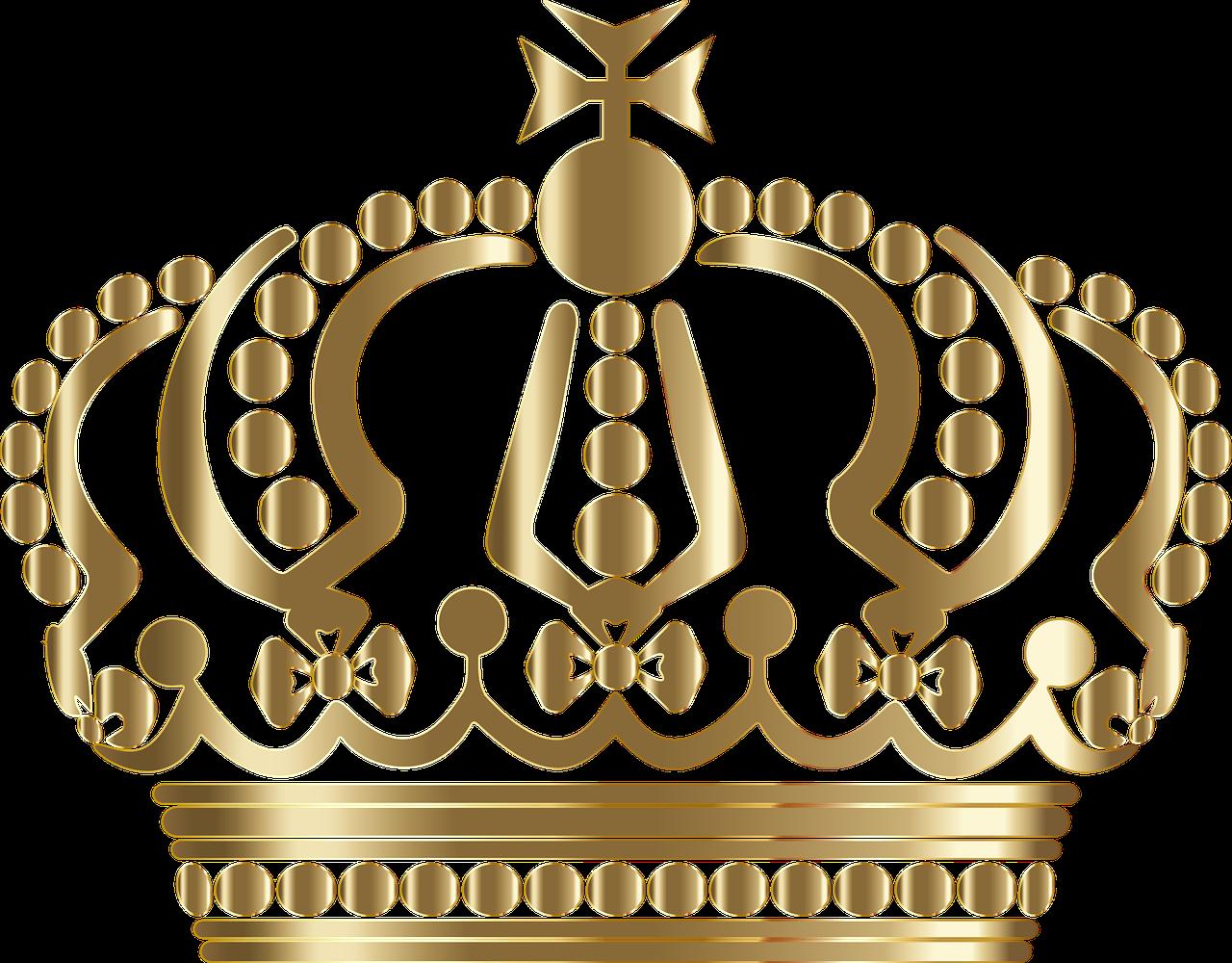 German royal king queen. Crown clip art queen's