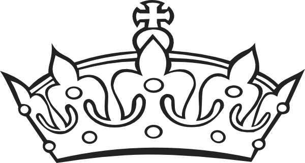 Crown clip art royalty free. Outline vector online public