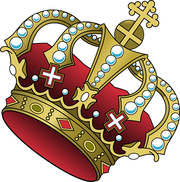 Crown tilted pencil and. Leader clipart authoritarian