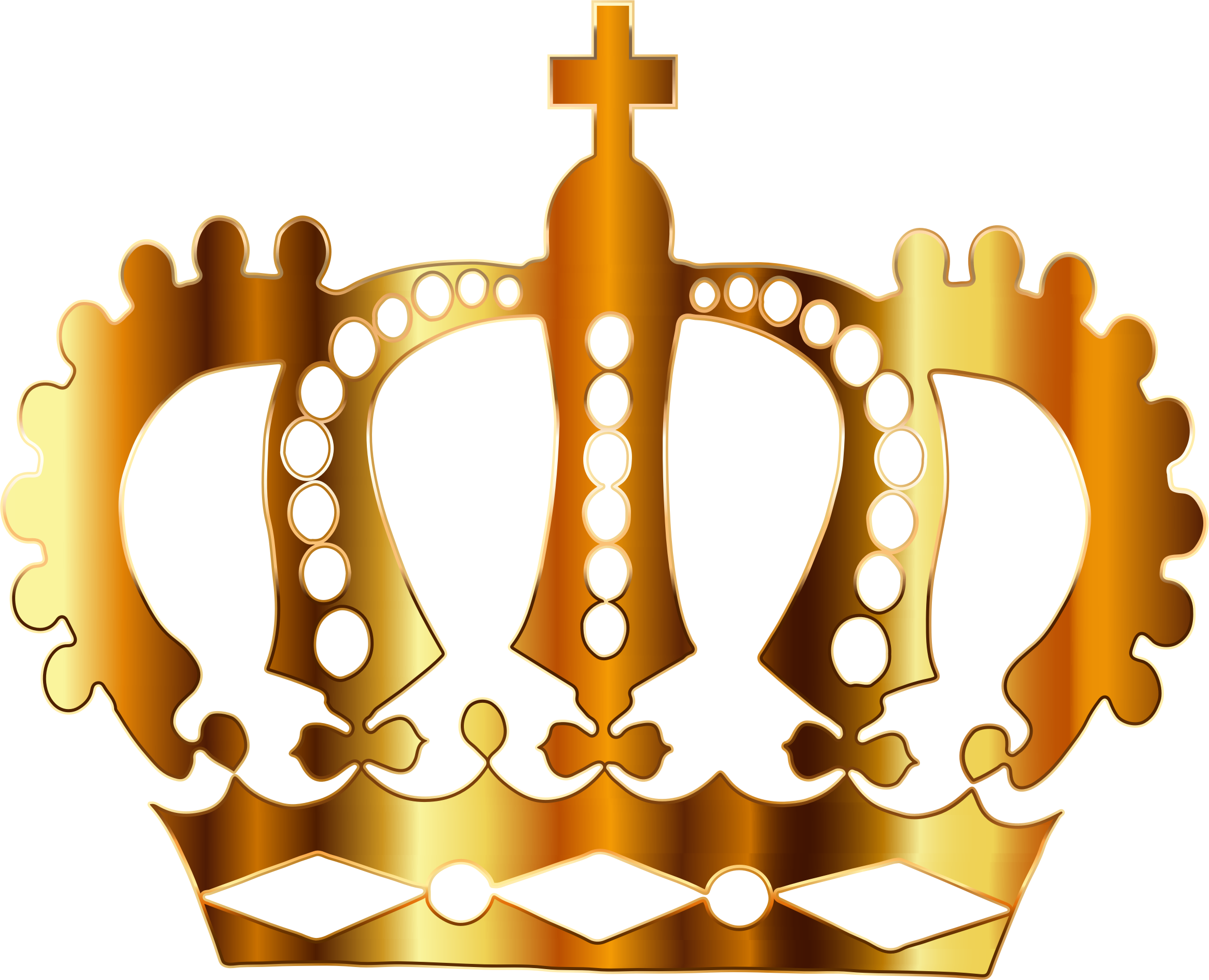 Gold royal no background. Crown clip art silhouette