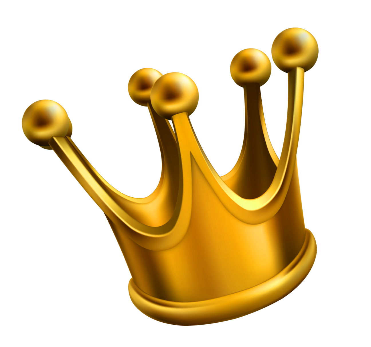Golden png clipart . Crown clip art simple