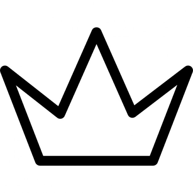 Crowns clipart simple. Free crown outline download