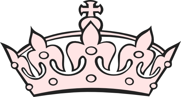 Pink at clker com. Crown clip art tiara