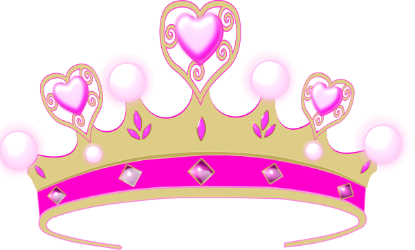 Pink princess crowns logo. Crown clip art tiara