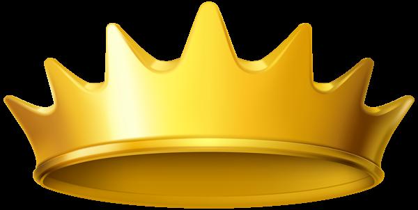 Golden clipart png image. Crown clip art transparent background
