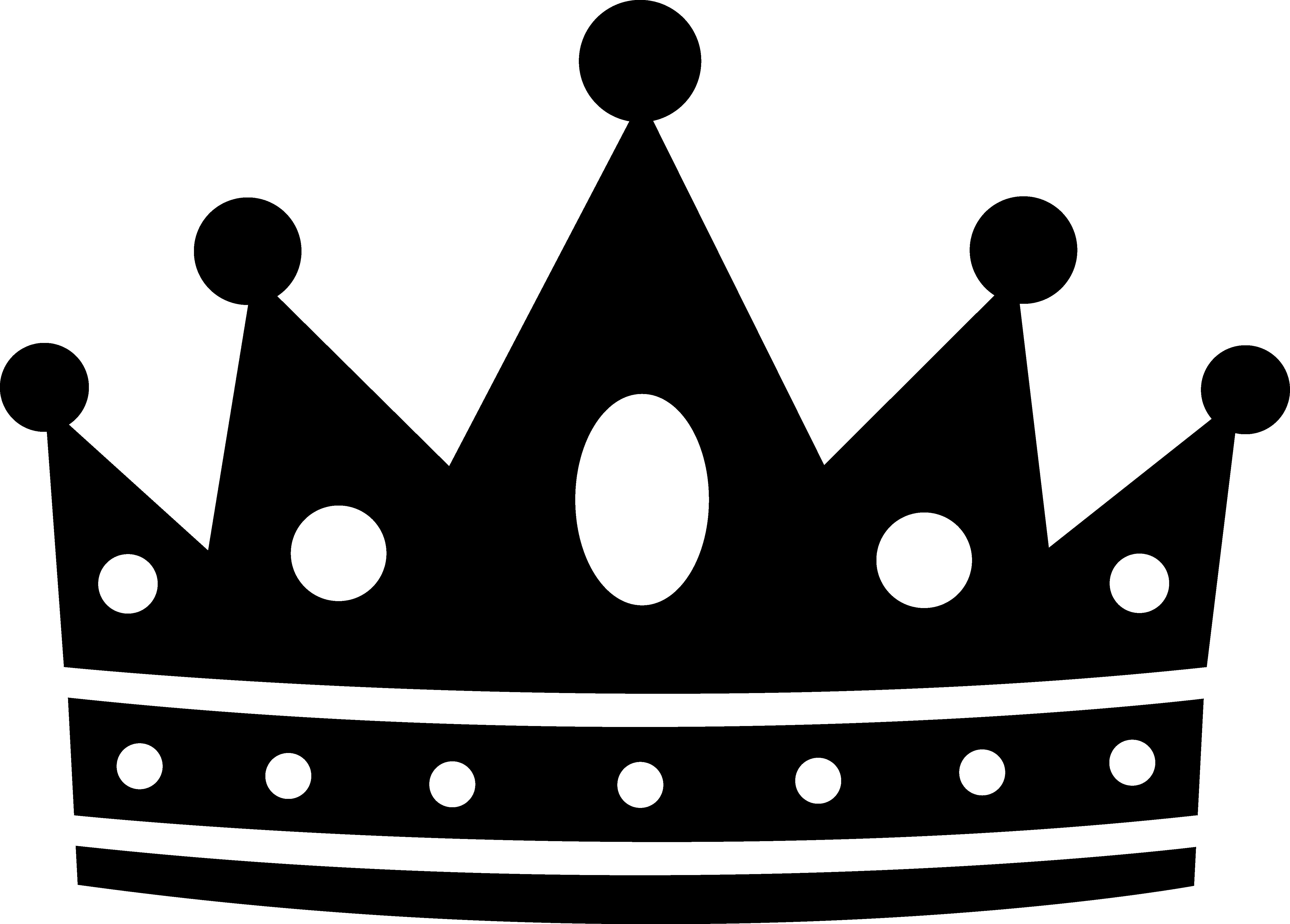 Crown clipart. Awesome black and white