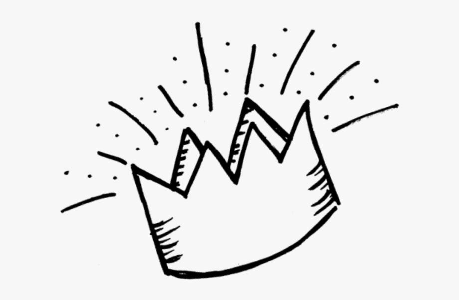 Free black white transparent. Crown clipart doodle