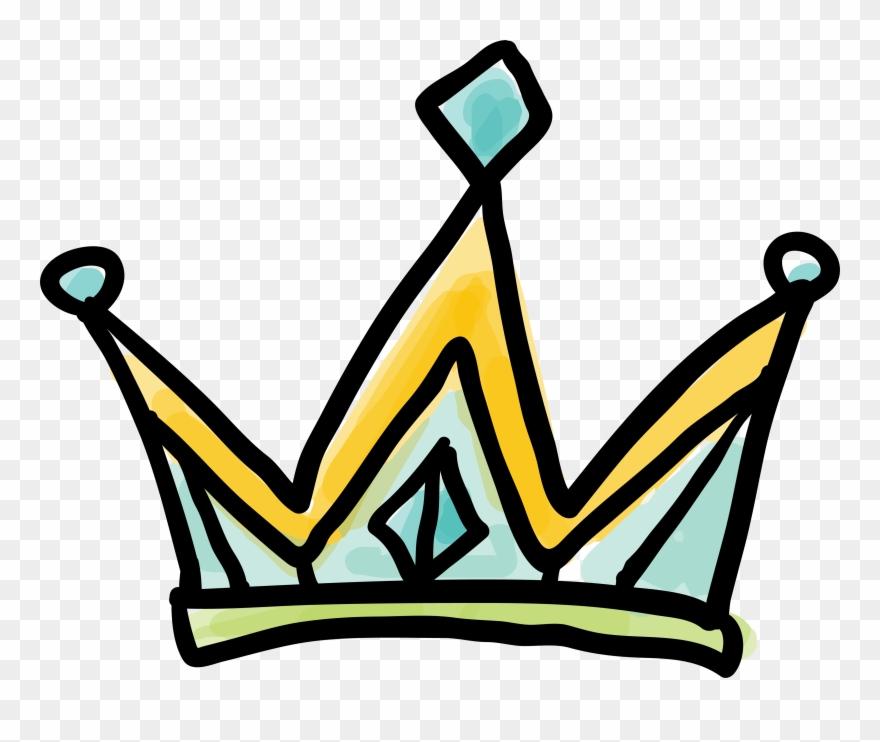 Clip art cartoon princess. Crown clipart doodle