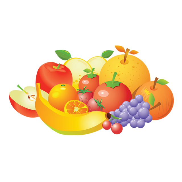 Crown clipart fruit. Realistic vector collection png