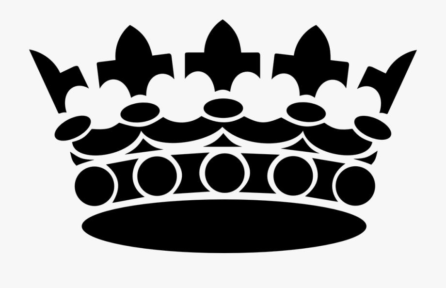 King png black transparent. Crown clipart king's