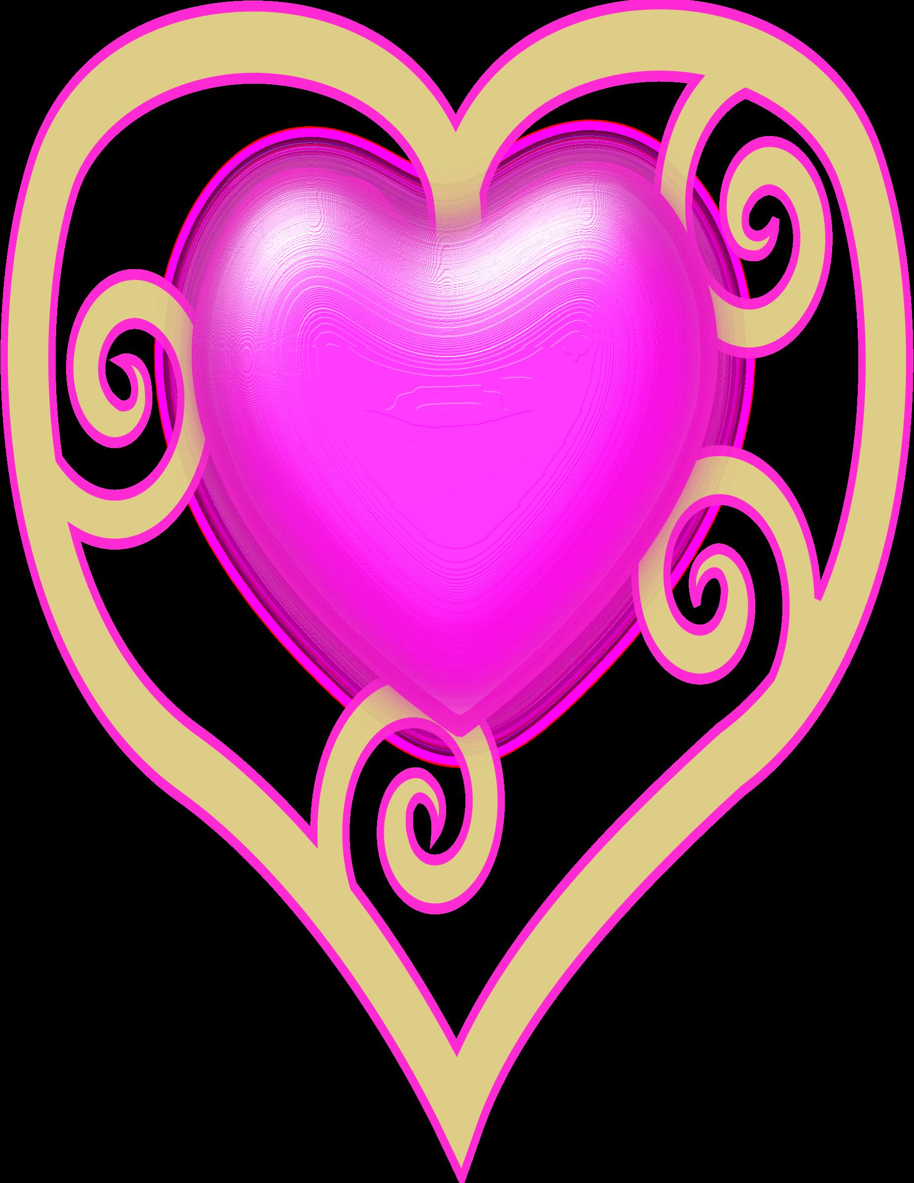 Princess crown big image. Heart clipart gem