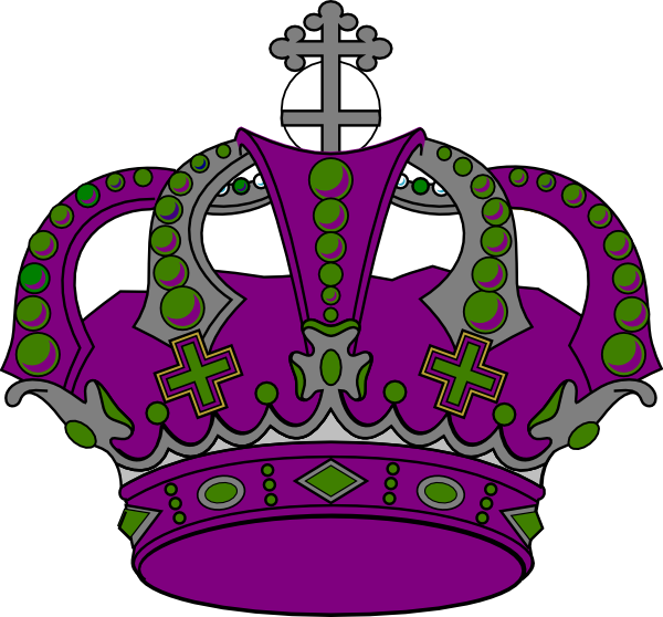Royal . Crown clipart purple