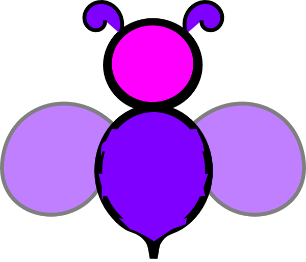 Bee pencil and in. Crown clipart purple