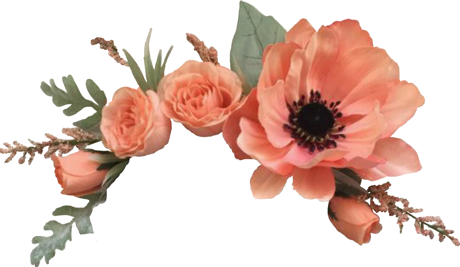 Flowers orange fiori arancio. Flower crown png