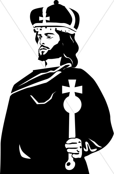 Crown clipart sceptre. Bishop with and