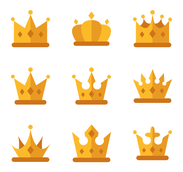 Icons free. Crown vector png