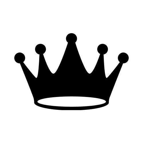 Crowns clipart plain. Crownplain bw clip art