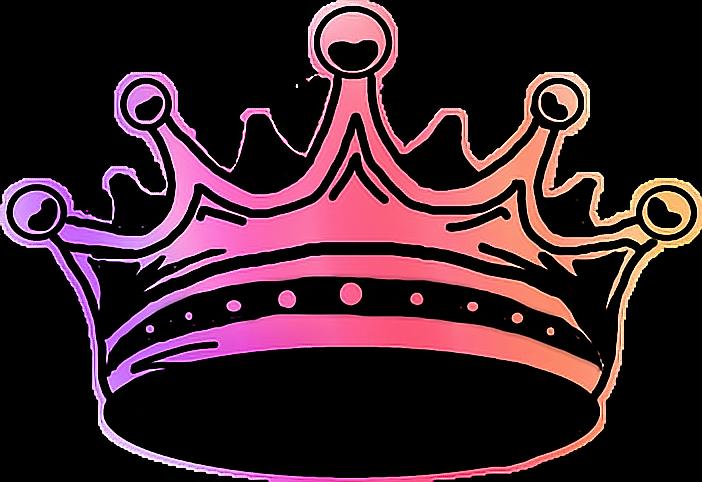 Sticker crown loveit report. Crowns clipart rainbow