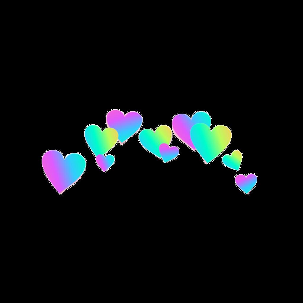 Rainbow hearts png. Rainbowhearts rainbowcrown crown heartcr