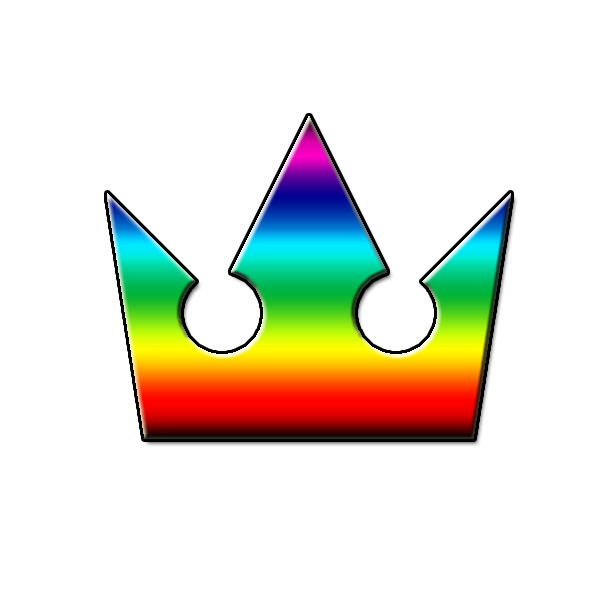 Crowns clipart rainbow. Kingdom hearts crown by