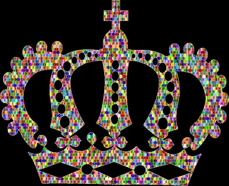 Crowns clipart rainbow. Chromatic gold royal crown