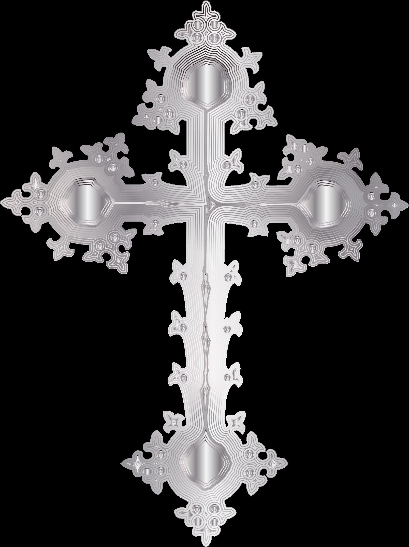 Platinum ornate cross no. Crucifix clipart baptism