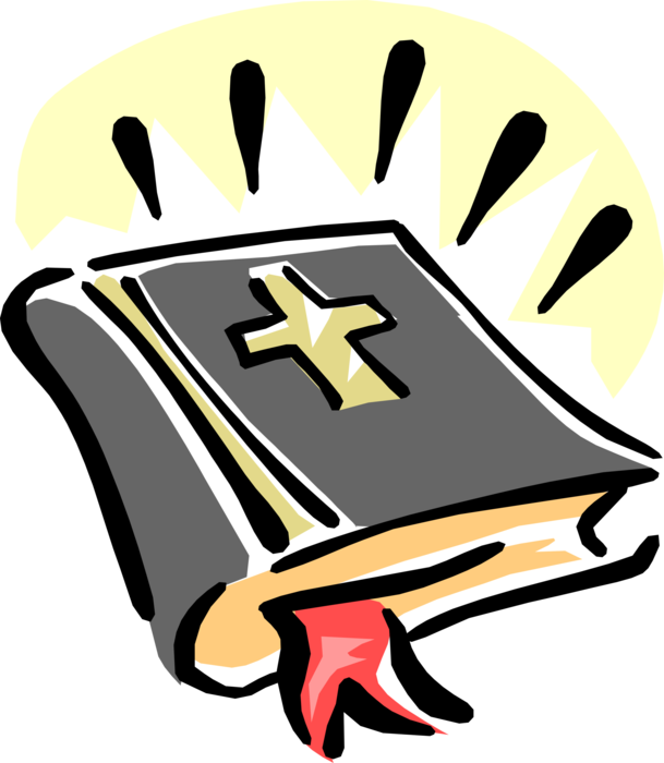 Crucifix clipart bible. Holy good book with