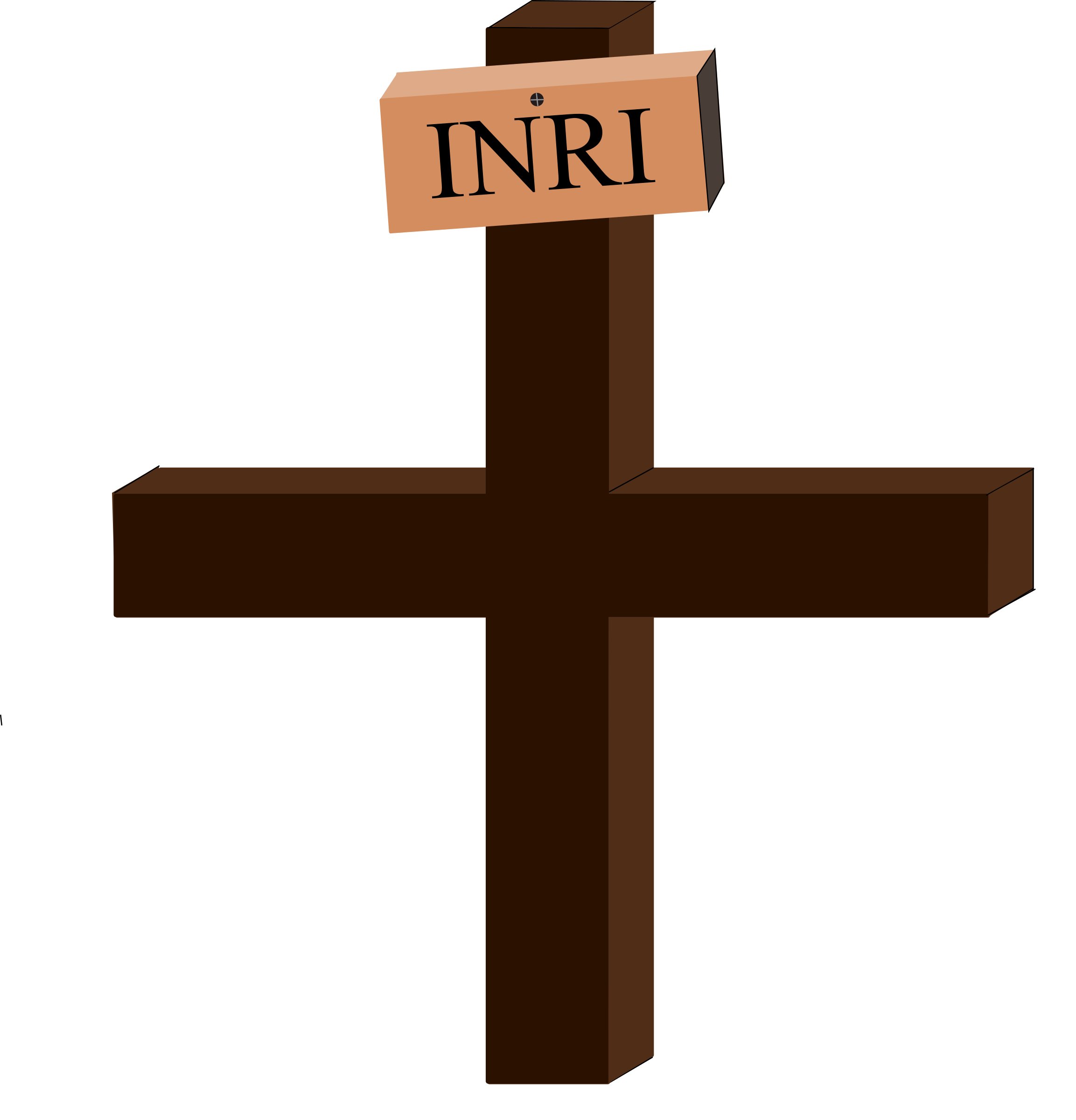 Crucifix clipart brown. Jesus on the cross