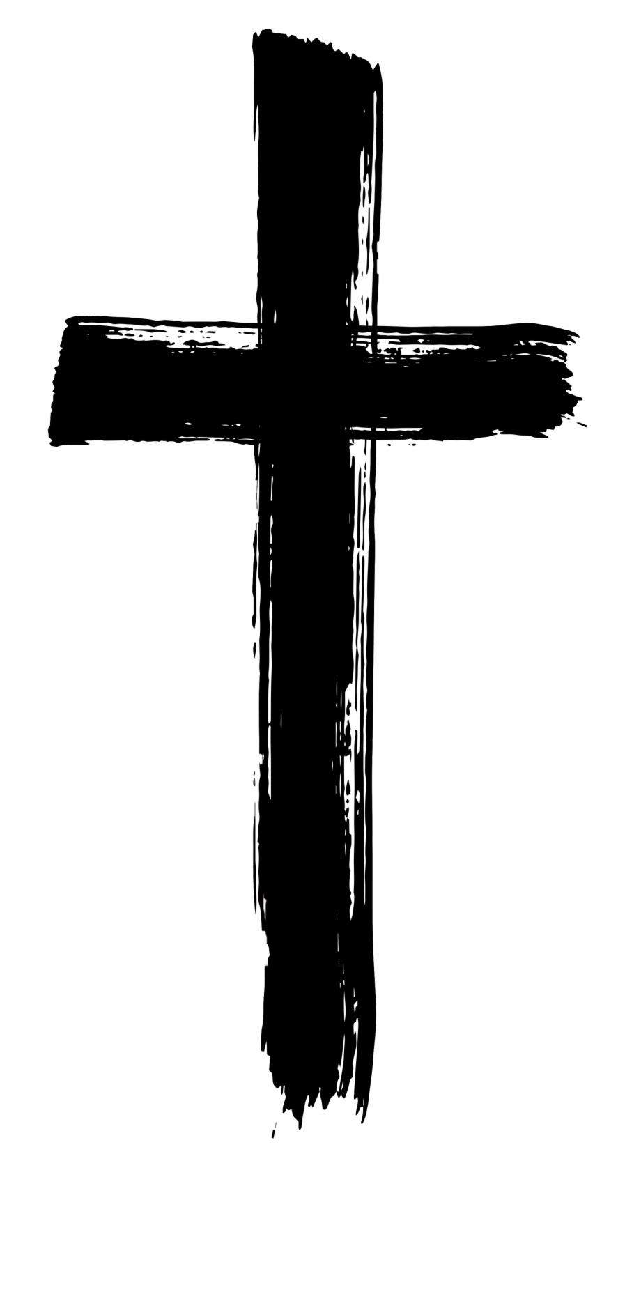 Free cross with transparent. Crucifix clipart brush