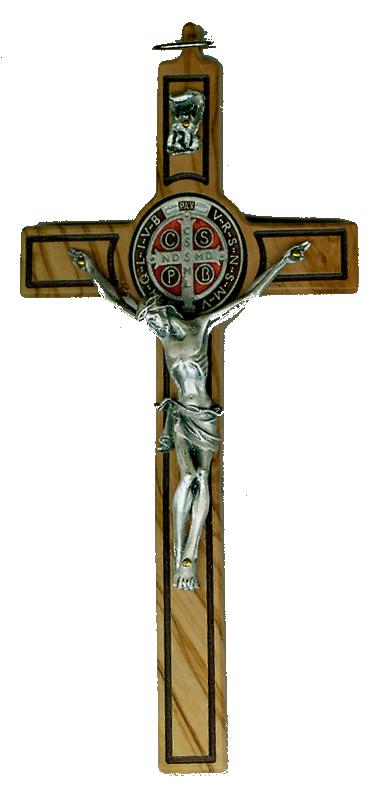 St benedict items trans. Crucifix clipart contemporary cross