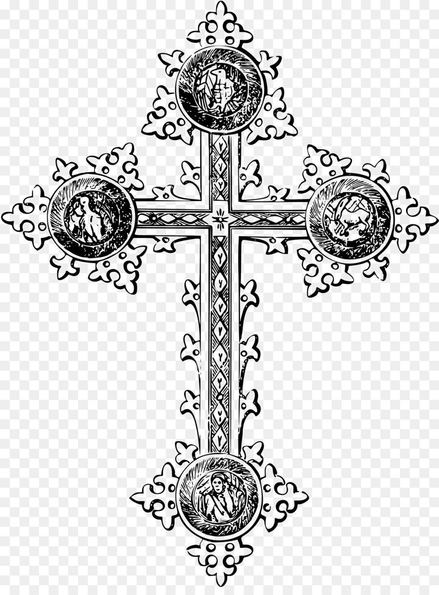 Crucifix clipart cross design. Symbol drawing transparent